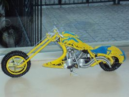 custom chopper by destart