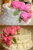 Fondant Rose top tier by Zappe