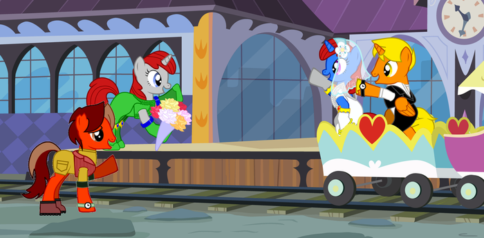 Waving the Wedding train Farewell! by NetGreen123