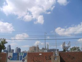 Blue Sky Over Kansas City by readheadgirl