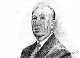 Alfred Hitchcock by crammagnum21