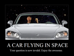 A Car in Space by srbarker