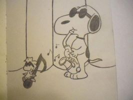Snoopy and Woodstock by firegirl1995