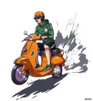 Deedet on Vespa by Dmitrys