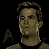 Star Trek portrait series 02 - Kirk - Pine by jadamfox