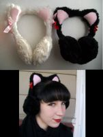 Kitty Earmuffs by Ronigirl