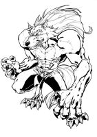 Darkstalkers BW: Jon Talbain by Peter-the-Tomato