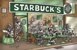 Starbuck's by GeekingsCards
