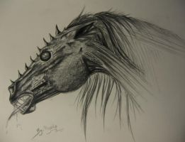 Horse demon by Sabyna