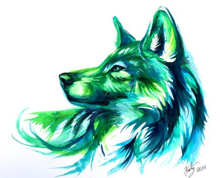 Emerald Wolf by Lucky978