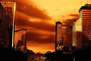 The city of Sunrise moment by sunny2011bj