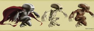 Alien Skeleton and Muscles by ikitaina