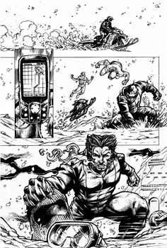 Wolverine Page 2 Inks by Blackmoonrose13