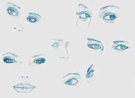 Eye sketches by DerekDwyer