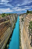 Corinth Canal by ELKAPL