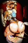 Tracer's Ticklish Booty - OVERWATCH by MichaelScottCannon