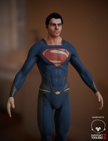Superman - Man of Steel (Low Poly WIP) by PatrickvanR