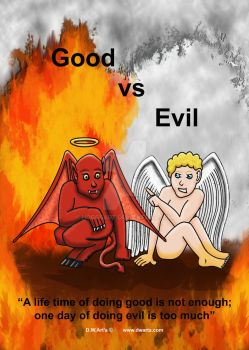 Good vs Evil by hoggsart