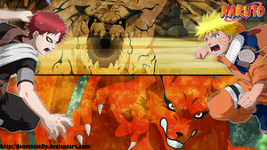 Naruto VS Gaara - Kyuubi VS Ichibi by DennisStelly