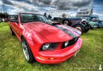 Shiny red Mustang... by Salemik