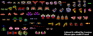 Metroid 2 creatures recolors by crovirus