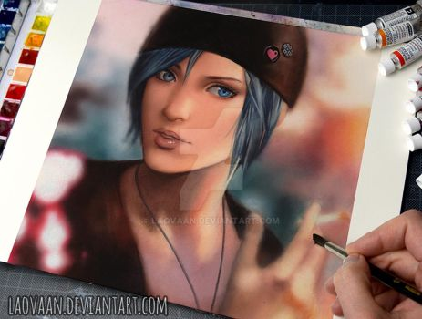 Life is Strange - Chloe (Watercolor Tutorial) by Laovaan