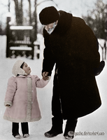 Tolstoy with granddaughter. by olgasha