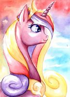 Princess Cadance - Watercolor by BellaCielo