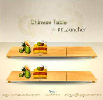 Chinese Table Dock - RK by snuffleupagus