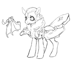 vampire pony doodle by Kemikel
