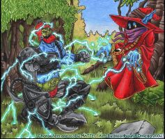 Orko vs. Trap Jaw by BloodhoundOmega