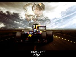 Sebastian Vettel Wallpaper 2 by O-five