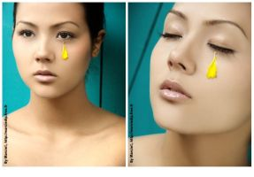 Yellow Floral Tear by Marciedip