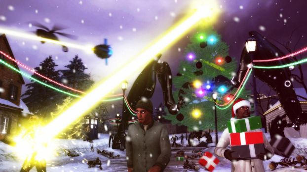 Invasion of Christmas trees by Madman5333