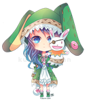 -- Date a Live Commission : Chibi Yoshino -- by Kurama-chan