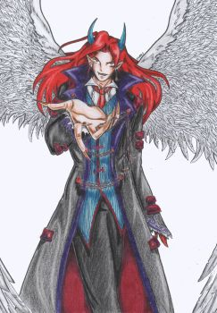 Vampire Demon Keros color by Frirry
