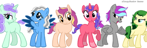 Pony Adopts 4! CLOSED by SnowRoseAdopts
