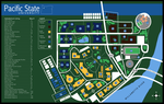 Pacific State U. Campus Map by lycanthropeful