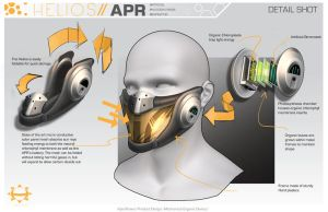 Product Design Beauty Shot- Helios Respirator by browniedjhs