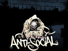 Antisocial Wallpaper by madrapper