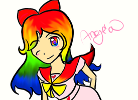Rainbow Angela~ by Angelwing8