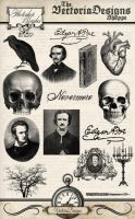 Edgar Allan Poe Photoshop Brushes by VectoriaDesigns