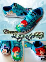Little Mermaid custom Vans by Raw-J