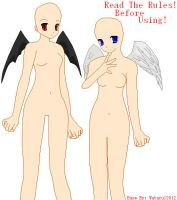 Angel And Demon Base by Wataru12012