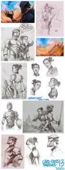 Criss-Cross Sketchs 13 by the-evil-legacy