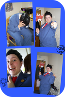 Phoenix Wright cosplay collage by Freyarule