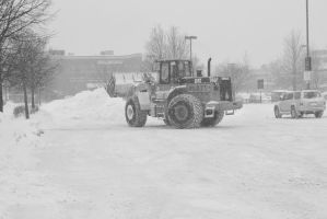 2015 February Snow Storm, BullDozing the Snow 5 by Miss-Tbones