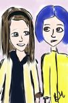 Harriet the Spy Meets Coraline by PeachesRGreat