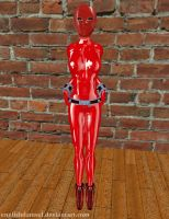 Latex Slave Red by EnglishDamsel
