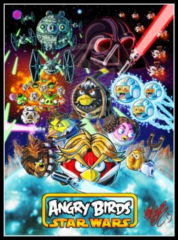 ANGRY BIRDS STAR WARS by MariposaBullet